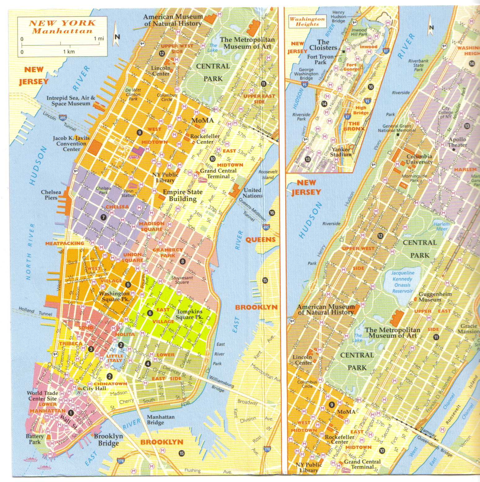 NYC New York carte map